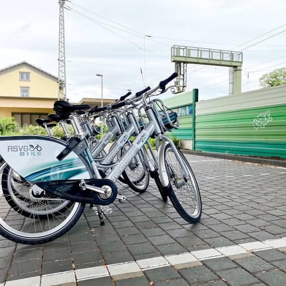 An der RSVG-Bike-Station am Bahnhof Königswinter stehen 8 Fahrräder zur Verfügung
