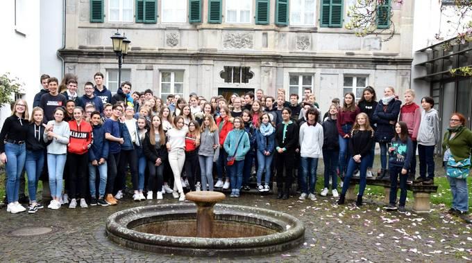 SchueleraustauschCognacGruppenbildSiebengebirgsmuseum2019 02