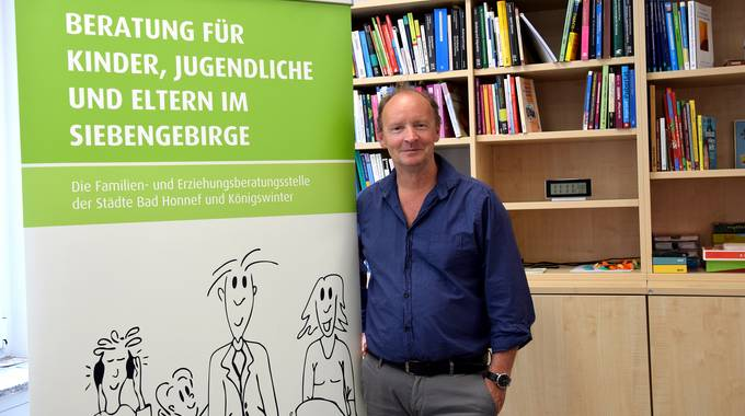Jürgen Scheidle, Leider der FEB, in der Familienberatungsstelle